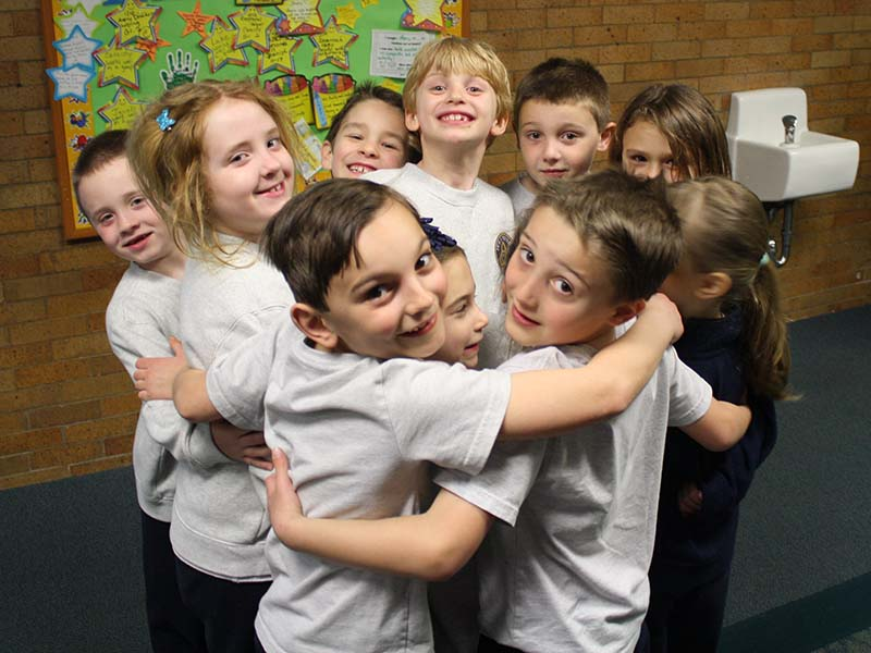 Group of Kids Hugging
